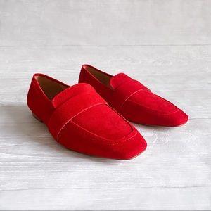 Halogen Red Faux Suede Loafer